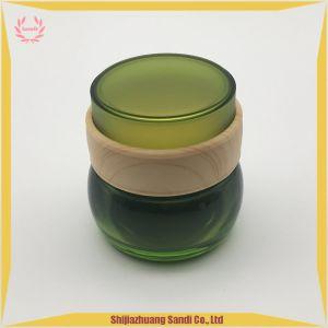 こはく色のガラス瓶はとの印刷およびタケのふたを水転送する