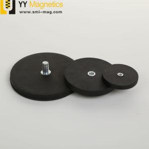 糸の棒のゴム製上塗を施してあるネオジムの鍋の磁石
