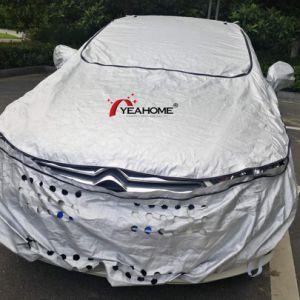 よい通気性の軽いあられの証拠の銀のコーティング車カバー