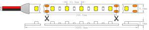 Ce SMD 1210 dell'UL 30 indicatore luminoso di striscia flessibile di LEDs/M IP43 LED