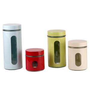 زجاجيّة مطبخ إستعمال تخزين مرطبان مجموعة
