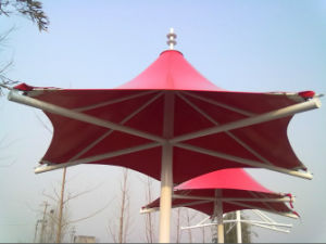 Paraguas estructura de membrana de tracción de PVDF para sombra