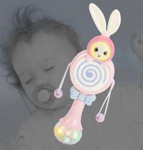Baby Hochet en forme de tambour d'onde de la musique pour enfants Toddler Light Bar cerveau Jouet à bascule