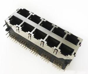 Conector da PCB RJ45 59 blindagem de nylon da Série 59b88