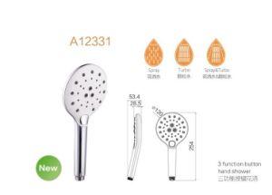 Productos de baño 3 Funciones de 2018 Nueva ducha de mano con el botón
