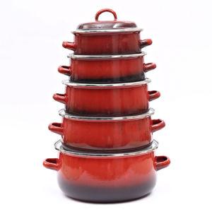 10PCS Non-Stick Reeks Cookware van het aluminium (lf1826-10)