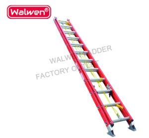 Qualidade Super 2 seção Etapa Industrial da escada de extensão da escada dobrável de fibra de vidro