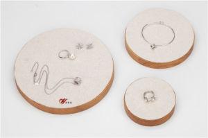 3 [بكس] محدّد خشبيّة [لينن] مجوهرات عرض حامل قفص