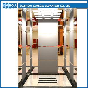 Mitsubishi Espejo Grabado de los engranajes de acero inoxidable equipos de elevación de la sala de máquinas de elevación Inicio Montacargas Ascensor de pasajeros