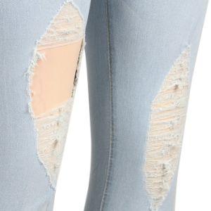 Modèle élégant broderie Jean pantalons taille haute Plus Size Jeans Sexy Nouveau modèle