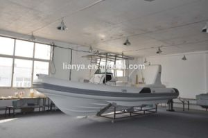 Liya 7.5mのガラス繊維の販売のための膨脹可能な肋骨のボートの哨戒艇