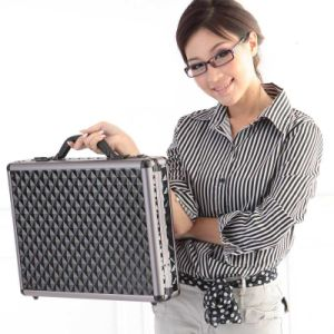 Мода алюминиевых жесткий корпус надежный замок чернокожих мужчин продавцом адвоката портфель