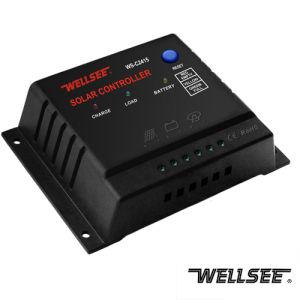 WELLSEE WS-C2415 15A 12/24V El controlador de la energía solar