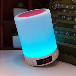 Tendencias 2018 Productos Despertador Lámpara LED inteligente con altavoz Shenzhen