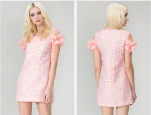 Novo Design de Moda vestido de mulheres partido personalizados para as meninas