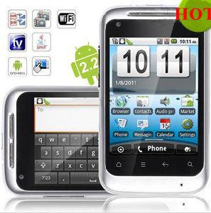 Carte doppie Smartphone di analogo TV GPS del Android 2.2 A510 WiFi dello schermo di tocco di 3.2 pollici