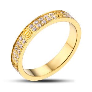 b0ce3863e872 Chapado en piedra de resina oro 18k anillo de bodas para hombres ...
