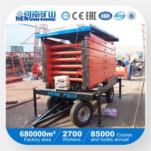 Móviles de alta calidad plataforma elevadora de tijera hidráulico (SJY)