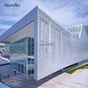 PVDF enduits de façade en aluminium de haute intensité bardage de maille perforée
