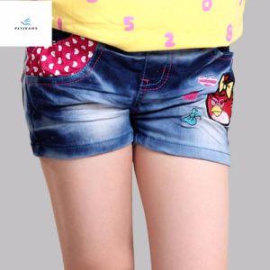 Shorts scarni diritti del denim di vendita calda di modo per le ragazze dai jeans della mosca