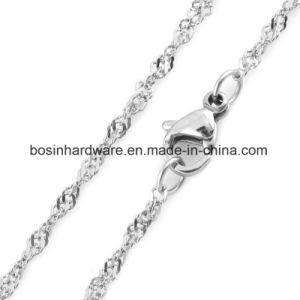 Collana della catena dell'onda delle donne dell'acciaio inossidabile