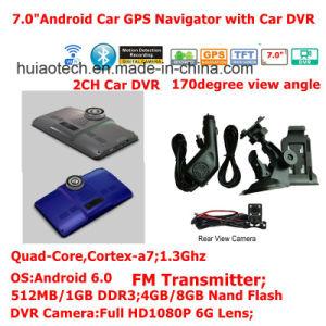 7.0 3G Android Dash carro elevador Marine navegação GPS com GPS Car DVR, transmissor FM, entrada AV-in para o estacionamento do sistema do Navegador GPS da câmara, dispositivo de rastreamento de TMC