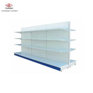 Panel perforado de acero en góndola Supermercados utilizados para el mercado