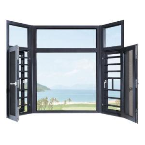 Rupture thermique Doule Heat-Insulated verre Fenêtre à battant en aluminium