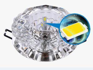 Lustre de cristal iluminação de tecto do Corredor Pendente Redondo LED da lâmpada de luz com Varanda