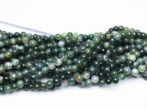 6 mm lisse ronde naturelle Moss Agate perles de pierres précieuses pour les bijoux Conclusions