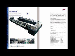Duas linhas Semiautomático Exercício Cola Fria máquina de colagem de notebook