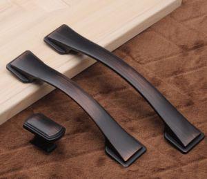 Maniglia in lega di zinco della mobilia del nero della maniglia di portello del hardware del portello di granaio