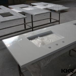 fait sur mesure une surface solide paillasse de cuisine avec évier