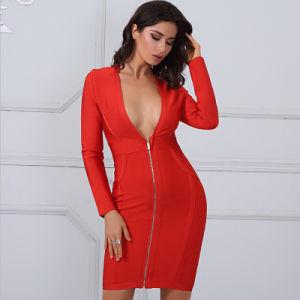 d46a2e312 Vestido de manga larga y vestido rojo sexy vestido vendaje – Vestido ...