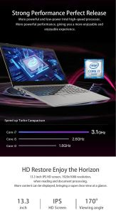Venda por grosso de boas a granel de Qualidade Ultra Slim personalizada OEM 8GB 13.3/14.1/15,6 polegadas Core i3/i5/I7 Office Business Laptop