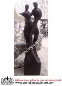 最上質の石造りの切り分ける抽象的な彫像(SK-2412)
