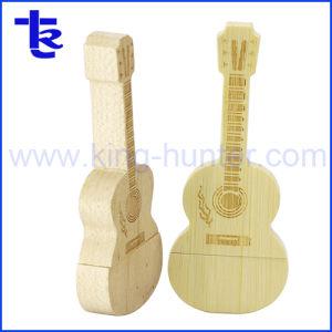 OEMの音楽的な木のギターUSBのフラッシュ・メモリの棒の親指駆動機構