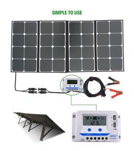 Prix bon marché Poids léger pliable portable 18V 150W pour panneau solaire supermarché