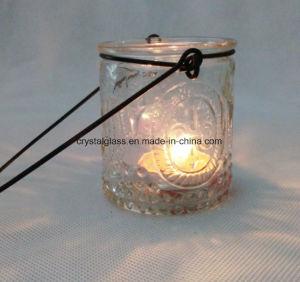 Зеленый цвет стеклянный кувшин блендера держателя при свечах