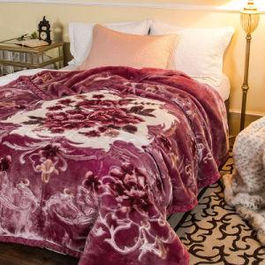 Deken van de Winter van de Polyester van de Mink van Raschel van de Hoeveelheid van de voorraad de Goedkope Hoge Acryl