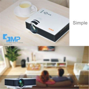 Preiswerte und gute Qualität stellen 800*480 1080P Support UC40+ beweglichen Projektor, Unterhaltungs-Projektor, LCD-Stütze her