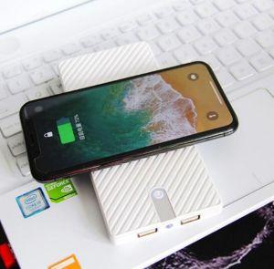 Ultrafino 10000mA banco de energía inalámbrica cargador para iPhone y Android