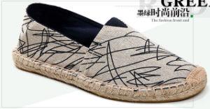 Nueva llegada de los hombres cómodos zapatos de suela de cáñamo