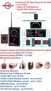 Lente de la señal de RF de profesional experto Buscador de detección de 2100 3G 2G/3G/4G el detector de Bug Tracker GPS Buscador All-Round contra Franco para la seguridad