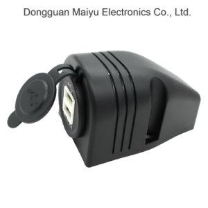 12-24V doble toma de encendedor de cigarrillos de coche USB Cargador adaptador divisor de potencia de salida