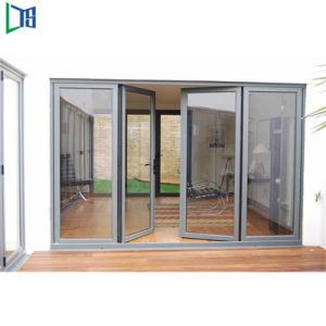 Portello di vetro della stoffa per tendine della doppia entrata del blocco per grafici di alluminio decorativo di disegno moderno