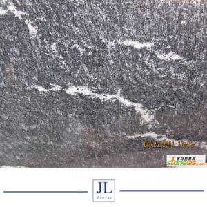 安い雪の床の壁階段ステップペーバーのKerbstoneの景色の柵のカウンタートップのための灰色の黒いジェット機の霧の花こう岩