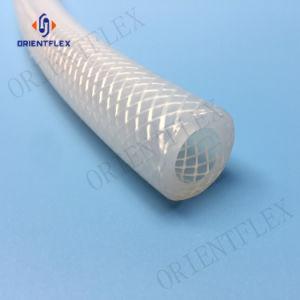 1meter食品等級の医学の編みこみのゴム製ホースによって補強されるシリコーンのホース