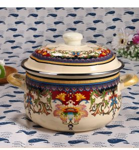Qualitäts-Küchenbedarf 5 PCS-Decklack, der Cassrole Set mit Deckel kocht