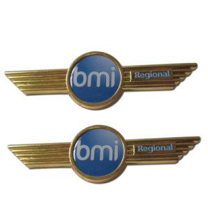 Emaillieren kundenspezifisches Gold überzogenes Weiche/stark BMI regionales Emblem-Abzeichen (066)